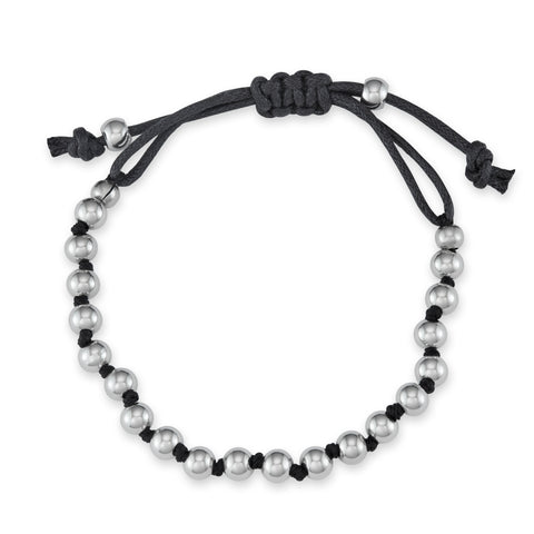 adjustable metal bead bracelet