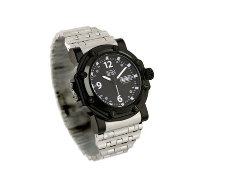 WCH10A military watch / automatic/ black /steel bracelet