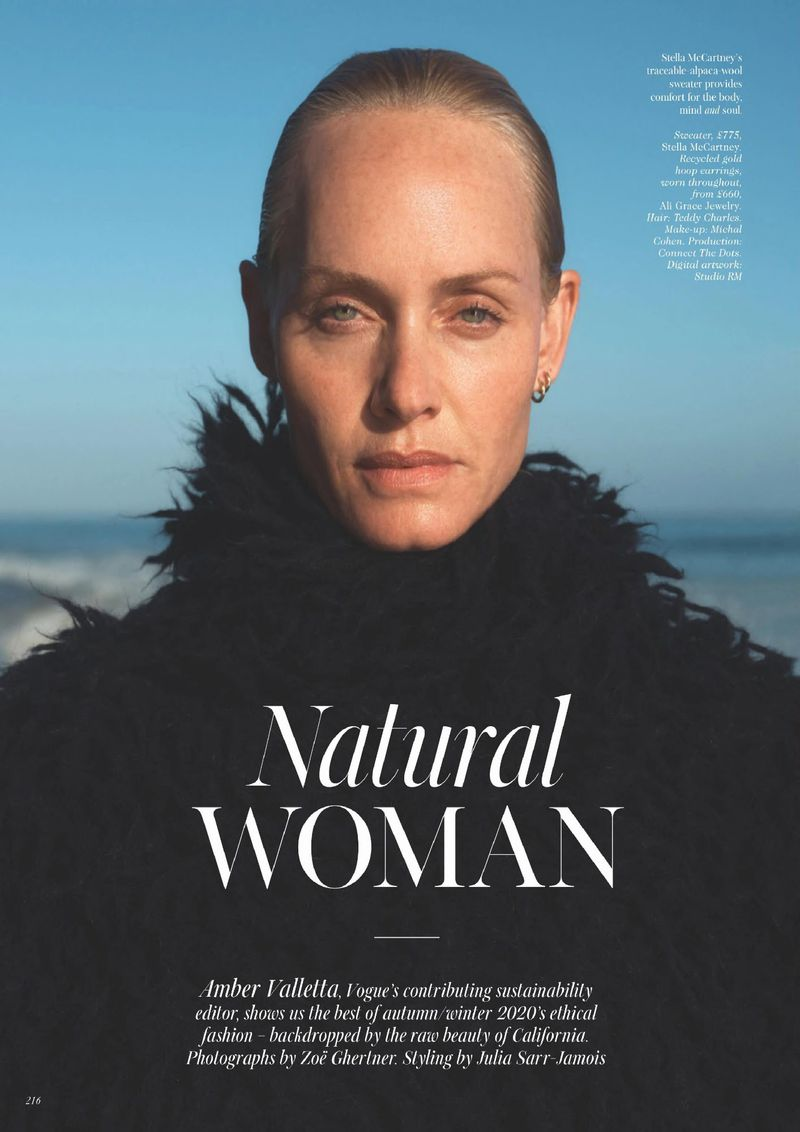 ali grace jewelry British Vogue Amber Valletta Styled by Julia Sarr-Jamois & Photographed by Zoe Ghertner fashion editorial ethical fashion sustainable style