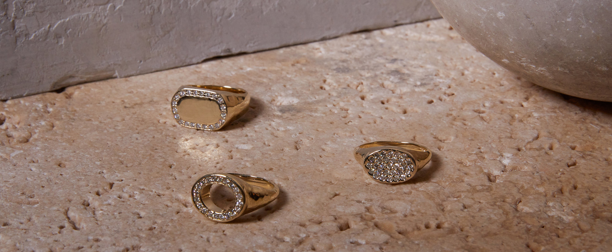 gold diamond signet rings family heirlooms