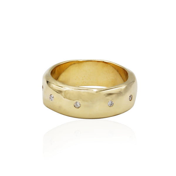 gold diamond ring alternative wedding ring bride groom wedding jewelry