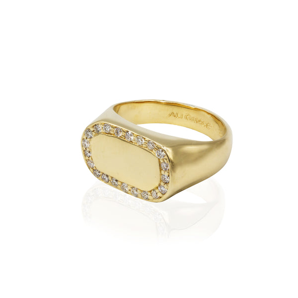 gold diamond statement ring handmade jewelry nyc
