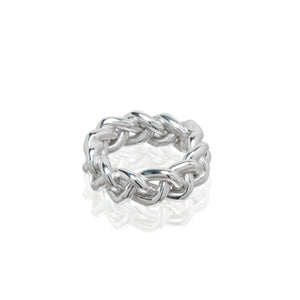 sterling silver braided ring fashion style handmade ali grace jewelry