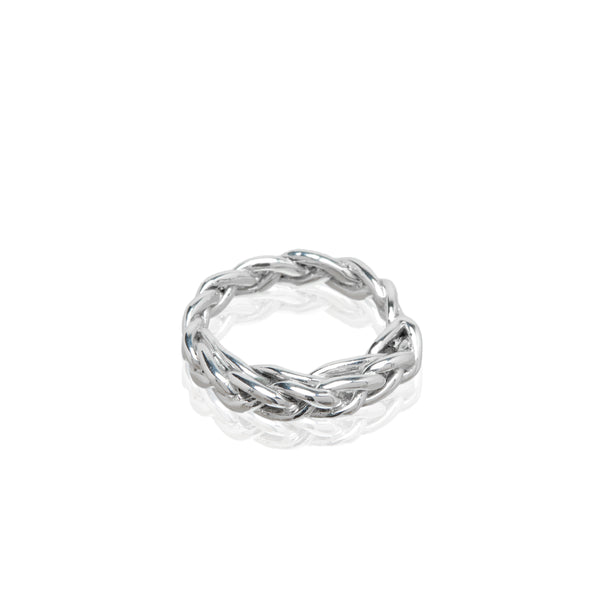 sterling silver braided ring fashion cool girl style vogue barneys