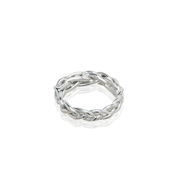 braided sterling silver ring ali grace jewelry handmade new york city blogger fashion