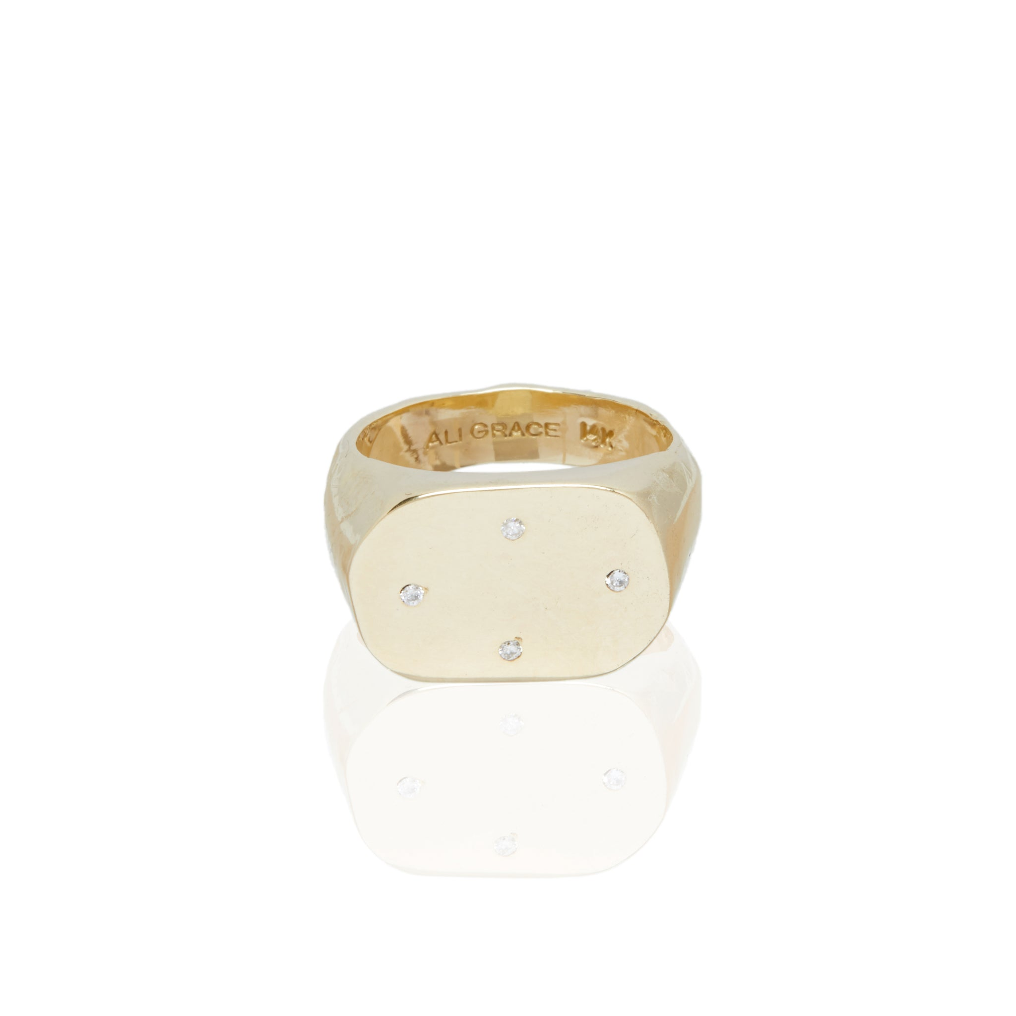 gold diamond signet ring custom jewelry heritage jewelry