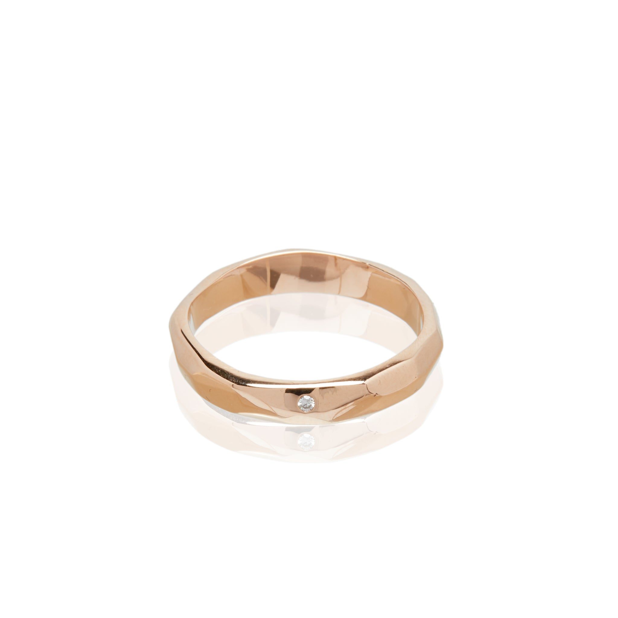 rose gold diamond ring alternative wedding ring