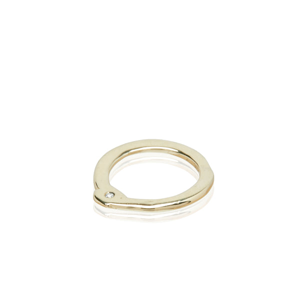 yellow gold diamond stackable ring fashion barneys