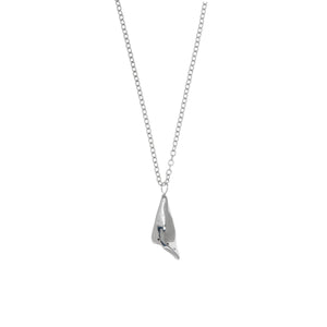 black diamond fine jewelry necklace pendant sterling silver