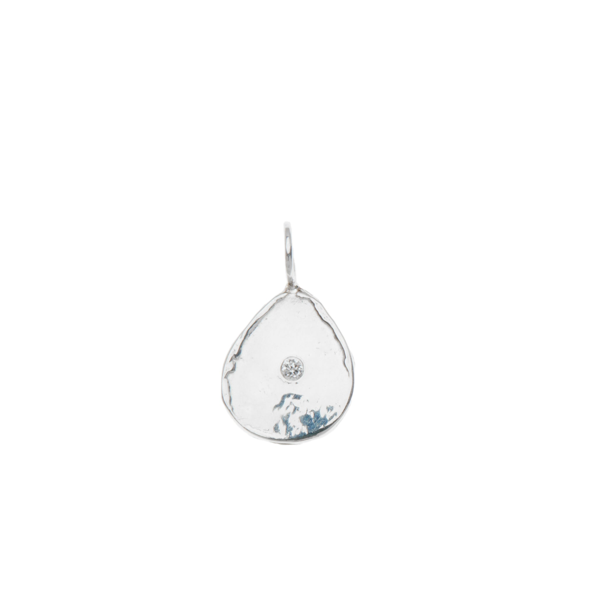 Diamond Teardrop Charm
