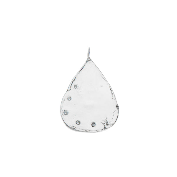 Multi Diamond Teardrop Charm