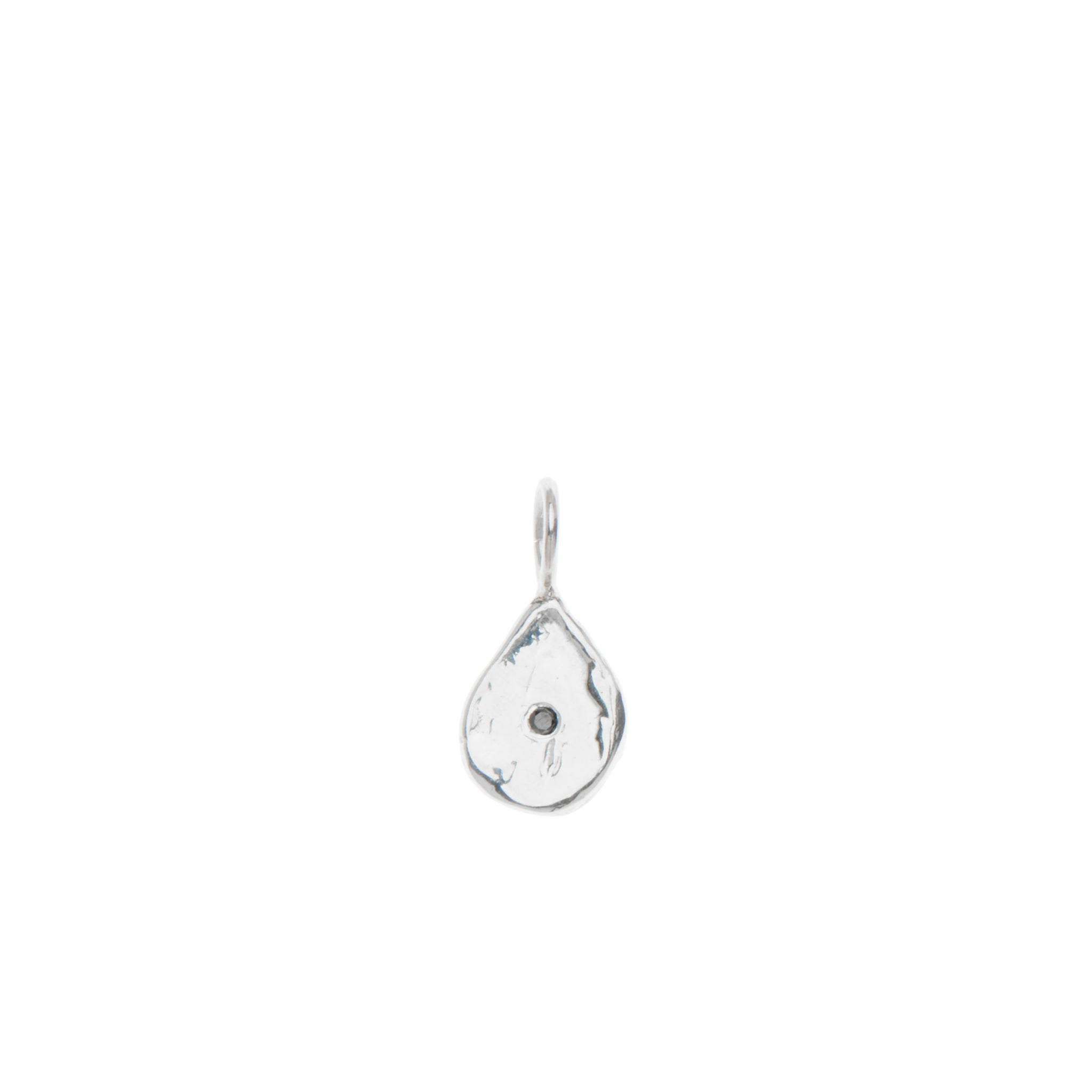 Black Diamond Teardrop Charm