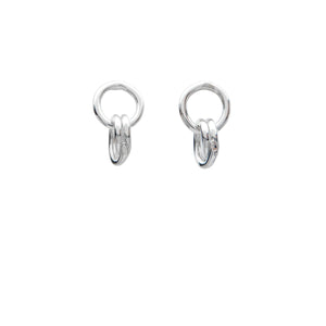 sterling silver interlocked hoop earrings