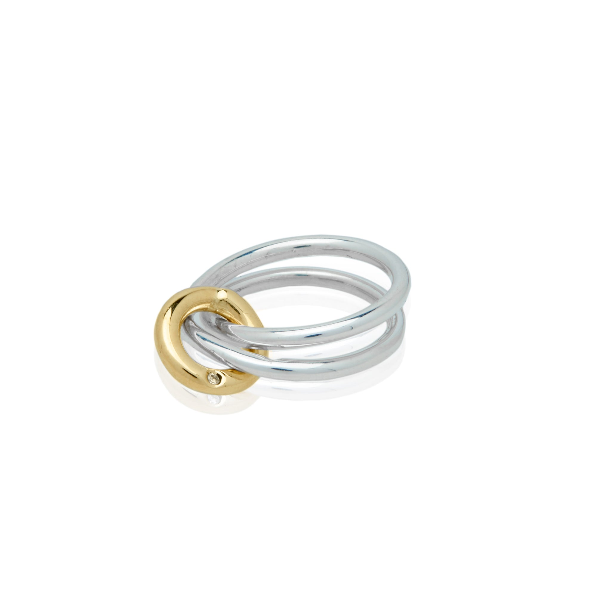 diamond loop ring fine jewelry custom design nyc cool girl fashion blogger style
