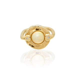 opal gold diamond ring statement jewelry fine jewelry wedding ring