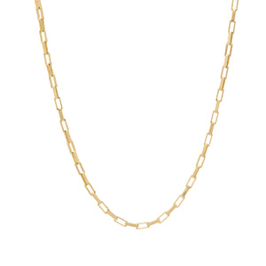 gold paperlink chain custom necklace charm design