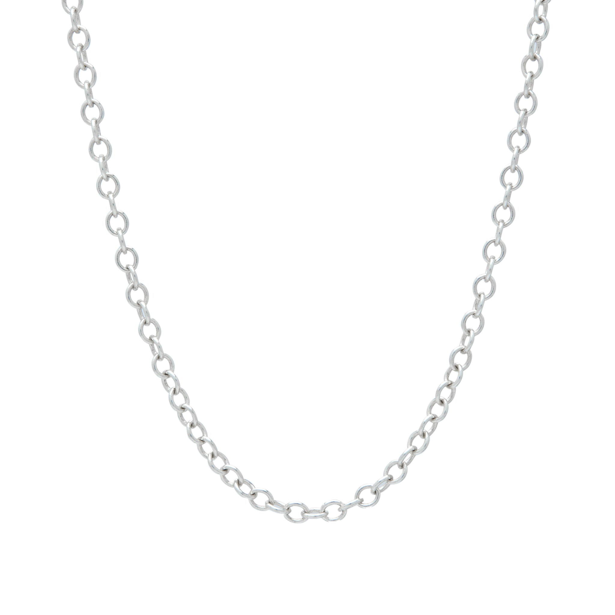 sterling silver oval link chain necklace custom necklace design charm necklace