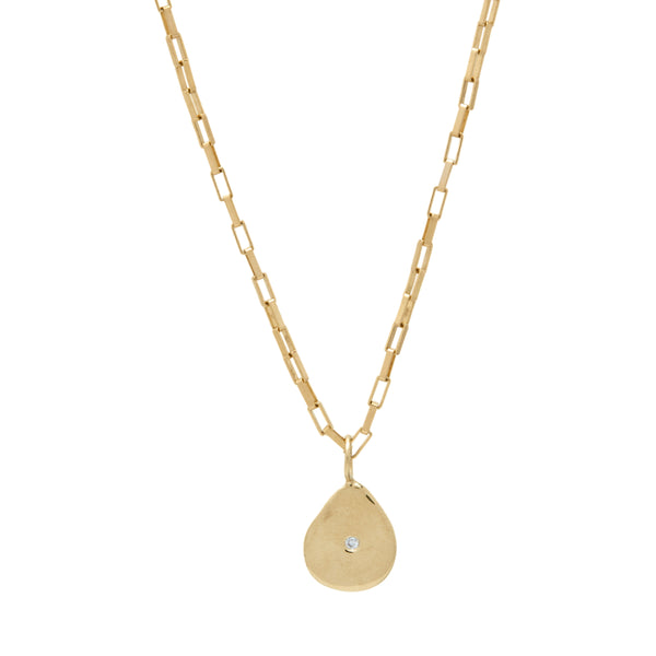 gold diamond charm pendant necklace