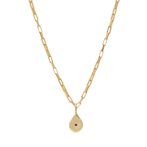 gold black diamond charm necklace fashion style vogue