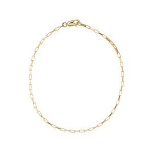 Paperlink Gold Chain Anklet