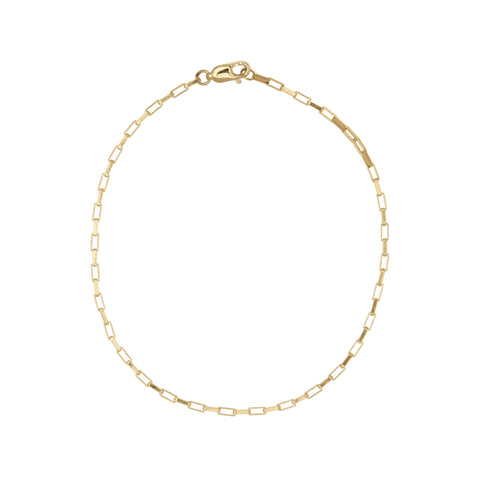ali grace jewelry sustainable jewelry design  14k yellow gold anklet summer jewelry