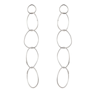 sterling silver multi hoop earrings statement earrings rock n roll jewelry