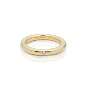gold diamond band ring alternative wedding ring