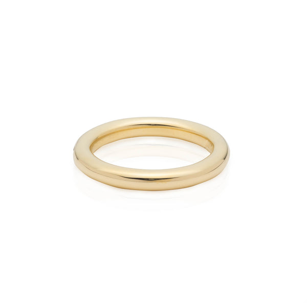 yellow gold wedding band ring for men and women