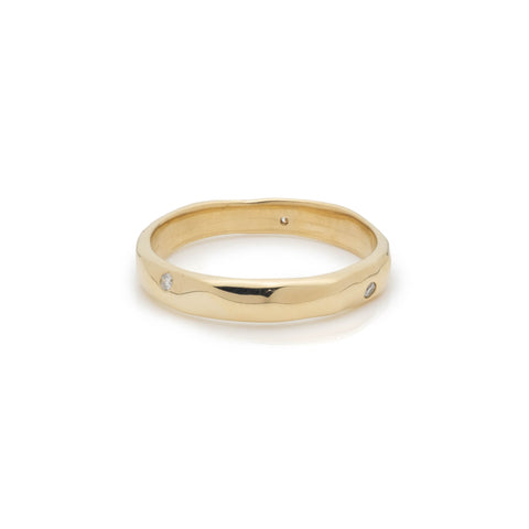 yellow gold diamond ring alternative wedding band