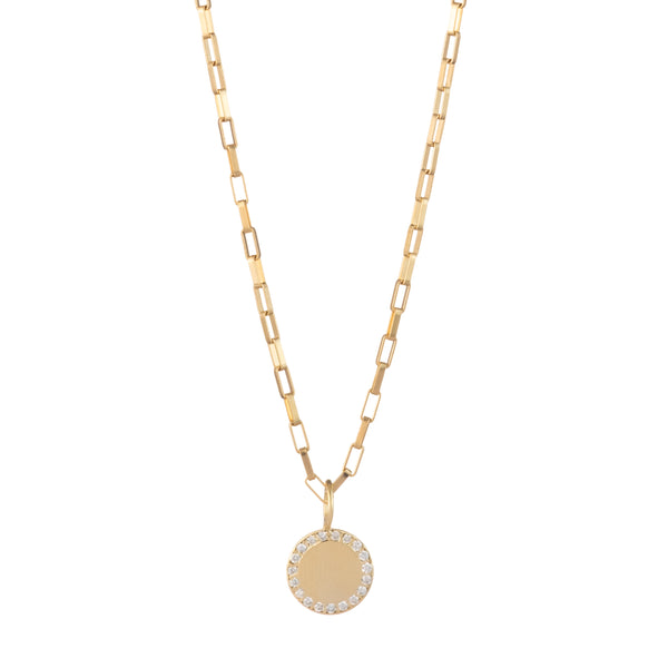 gold delicate diamond charm chain necklace