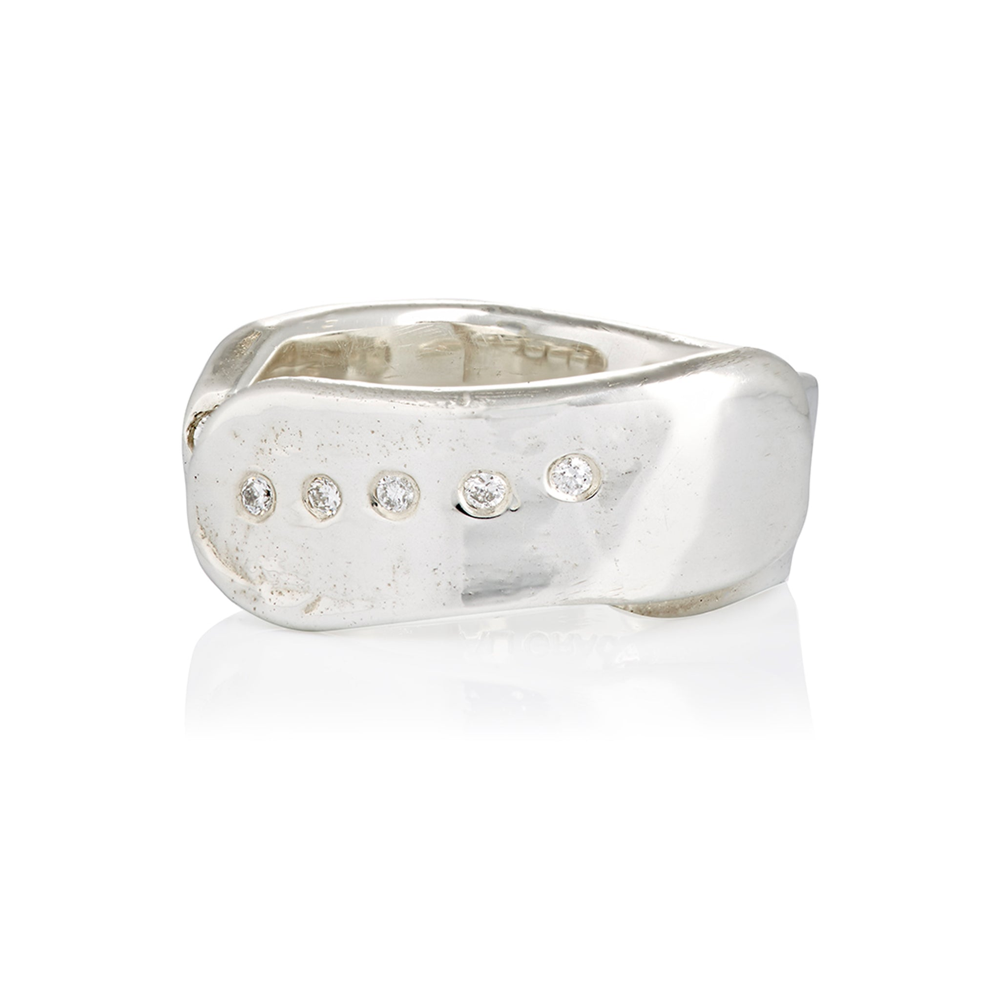 Sterling Silver Textured Open Ring