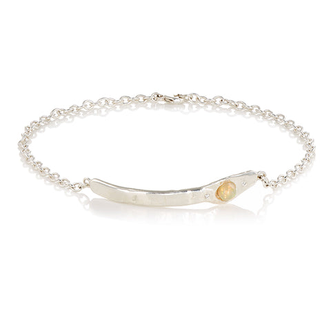 Opal & Diamond Anklet