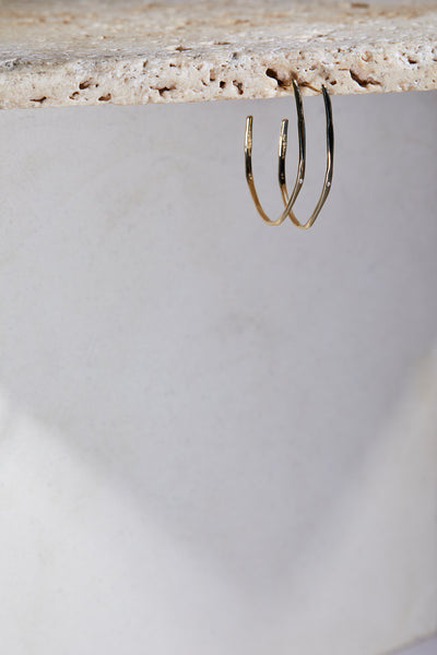 great every day statement hoop earrings gold jewelry
