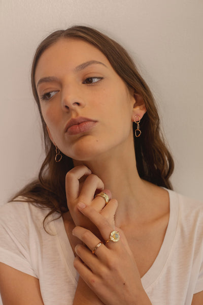 rose gold hoop earrings statement earrings
