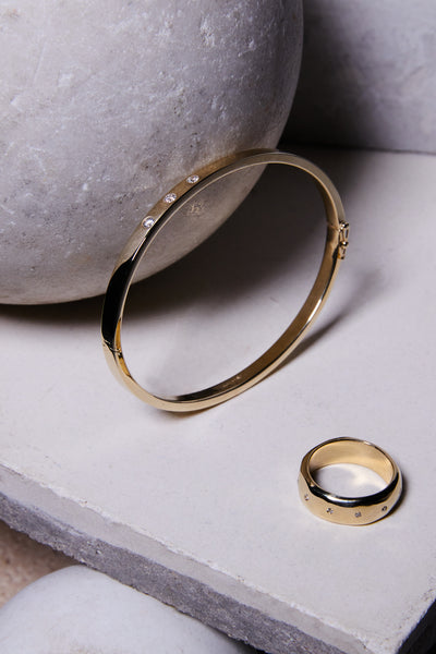 gold thick band alternative wedding ring for men and women fine handmade jewelry