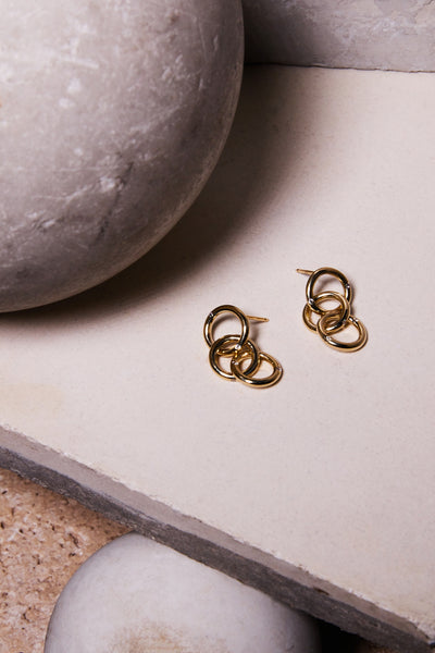 small round gold diamond hoop earrings