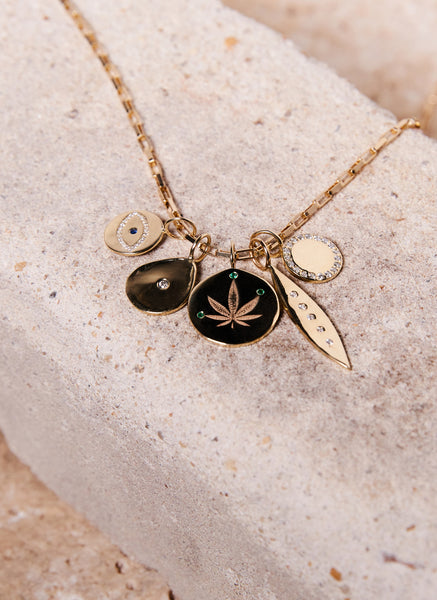 weed cannabis leaf jewelry high end fashion stoner jewelry