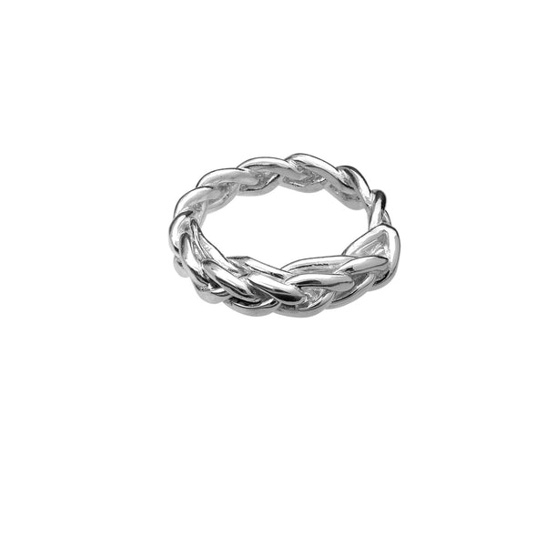 silver stackable rings cool girl fashion in style