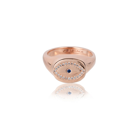 evil eye jewelry signet ring custom jewelry fine jewelry