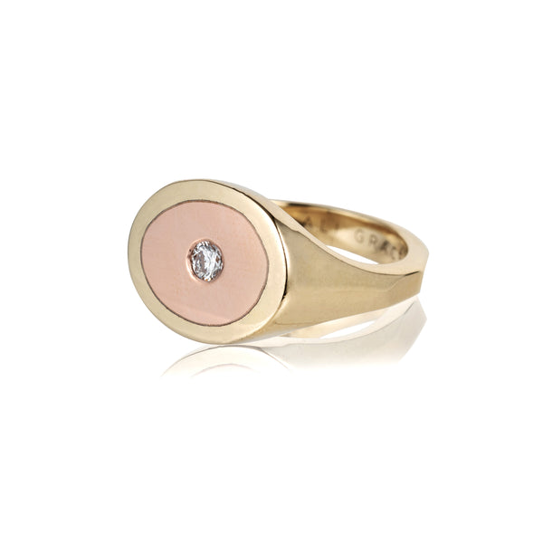 rose gold yellow gold statement ring sustainable fashion recycled gold