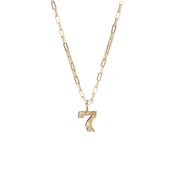 lucky 7 gold charm good luck charm necklace holiday gift guide