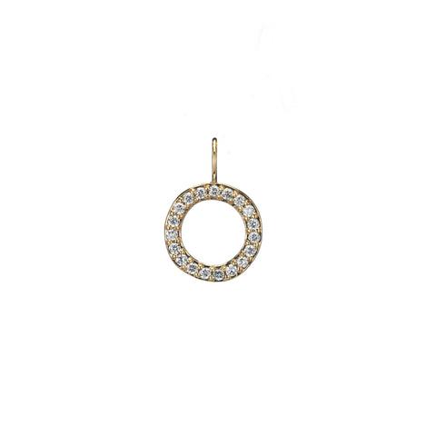 open diamond gold circle charm necklace holiday gift guide wwd recycled gold
