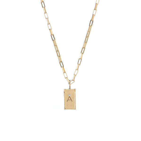 letter necklace charm gold diamond delicate jewelry