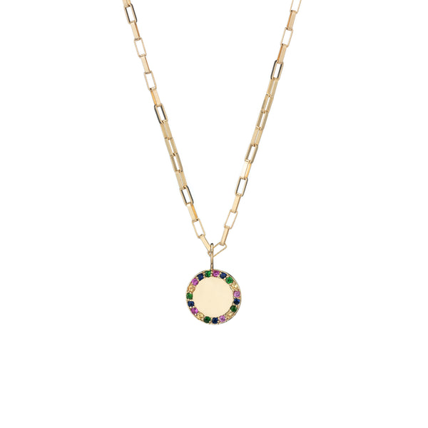 citrine emerald sapphire gold charm necklace like jennifer meyer jewelry holiday gift guide shopping