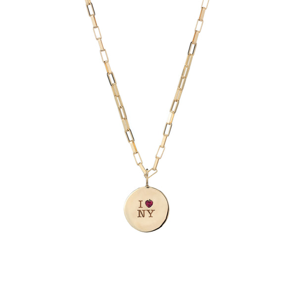 ruby heart charm necklace gold charm WWD holiday gift guide christmas present