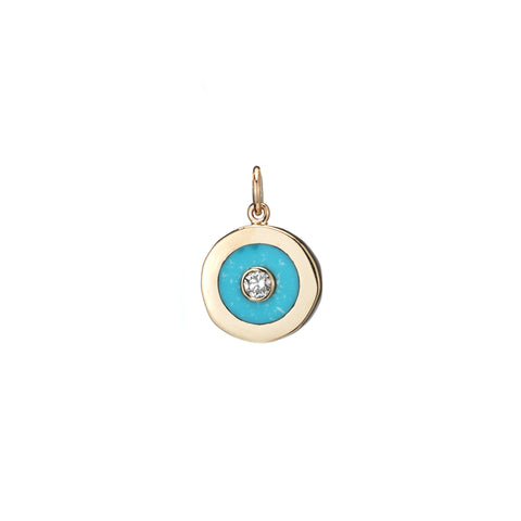turquoise diamond charm necklace turquoise inlay charm jewelry like harwell godfrey