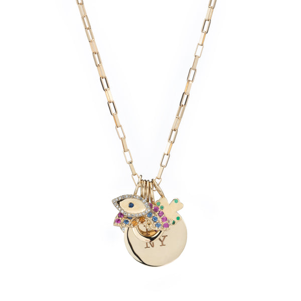 evil eye clover rainbow new york charm necklace fine jewelry holiday gift guide