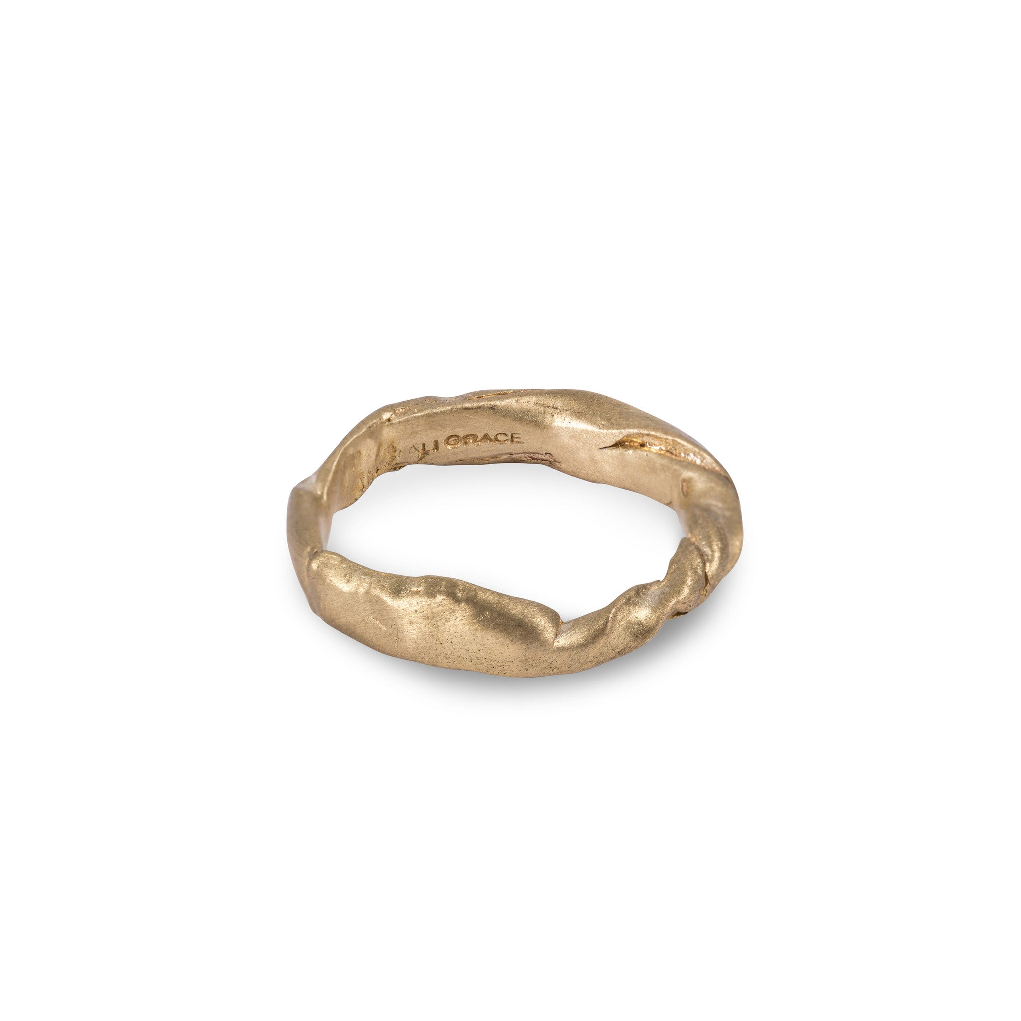 Brass Twisted Ring