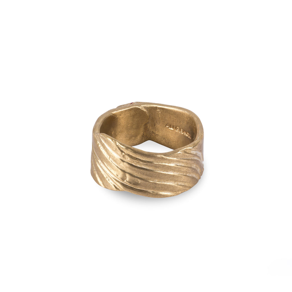 Brass Wave Design Ring