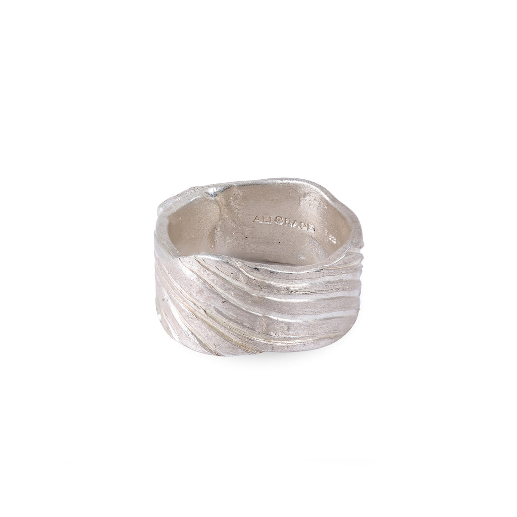 Sterling Silver Wave Design Ring